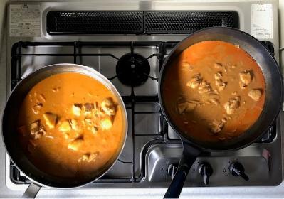 mitasuチキンカレー調理過程