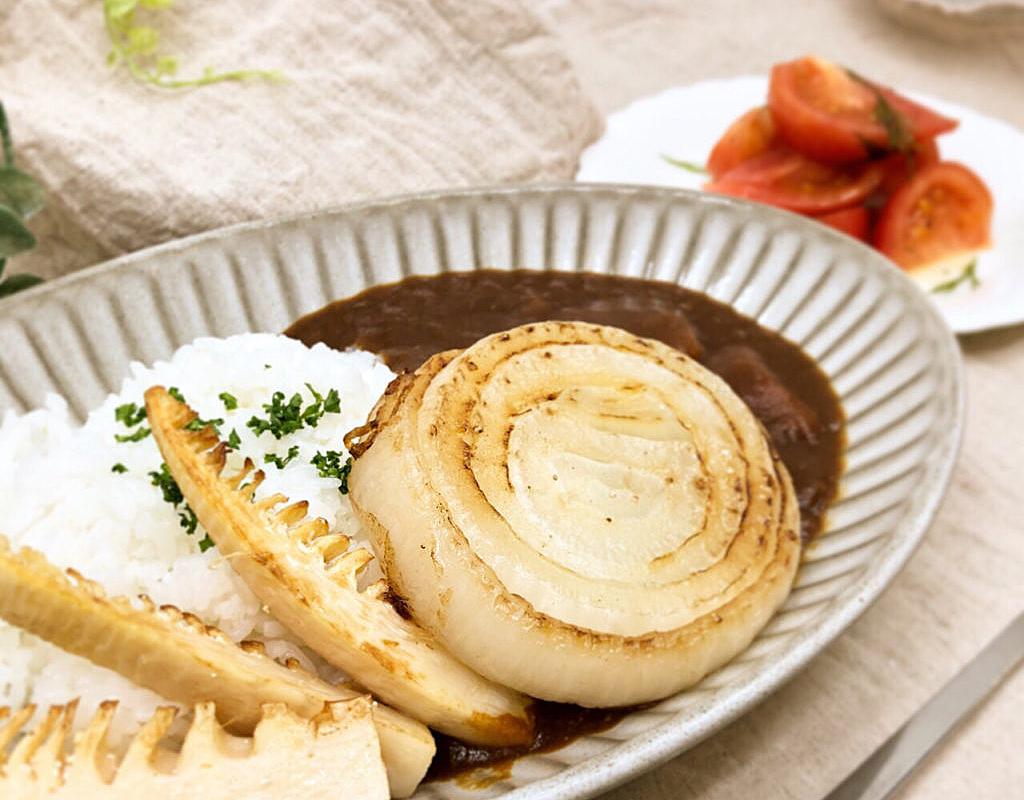 ☆ビーフカレー ~春の筍と新玉葱のソテー添え~☆
